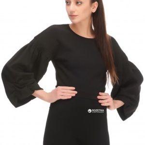 Zara Wide Sleeve Crop Top Black S
